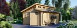 Garage en bois TWIN (44 mm), 4x6 m, 24 m² visualization 1