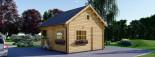 Chalet en bois à étage ALBI (66 mm) 20m²+ 8m² terasse  visualization 5