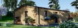 Chalet en bois habitable ANGELA (44 mm + bardage, RT2012), 50 m² visualization 7
