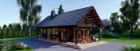 Chalet en bois AURA avec étage (66 mm), 100 m² + 35 m² terrasse visualization 9