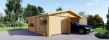 Garage en bois double (44 mm), 6x6 m, 36 m² visualization 2