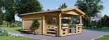 Abri de jardin SHANON (66 mm), 16 m² + 6 m² terrasse visualization 3
