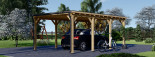 Carport en bois MODERN, 3x6 m, 18 m² visualization 3