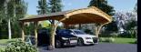 Carport en bois BETSY DUO, 6.15x6 m, 36.9 m² visualization 1