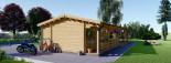Chalet en bois TOSCANA (44+44 mm), 53 m² + 29 m² terrasse visualization 7