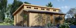 Garage en bois double TWIN (44 mm), 8x6 m, 48 m² visualization 1