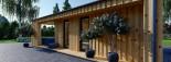Studio de jardin ANNA Scandinavia (44 mm + bardage), 20 m² + 16 m² terrasse visualization 9