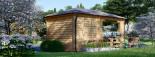 Tonnelle en bois (28 mm), 3x5 m, 15 m² visualization 4