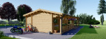 Chalet en bois TOSCANA (44 mm), 53 m² + 29 m² terrasse visualization 7