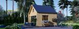 Chalet en bois habitable SARA (44 mm + bardage, RT2012), 20 m² visualization 4