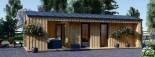 Studio de jardin ANNA Scandinavia (44 mm + bardage), 20 m² + 16 m² terrasse visualization 2