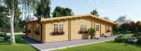Chalet en bois RIVIERA (66 mm), 100 m² + 20 m² terrasse visualization 7