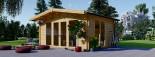 Studio de jardin MARTA (44+44 mm, RT2012), 5x4 m, 19.9 m² visualization 1