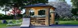 Tonnelle en bois (28 mm), 4x4 m, 16 m² visualization 2