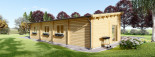 Chalet en bois à toit plat BERTA (66 mm), 72 m² avec terrasse + 20 m² garage visualization 5
