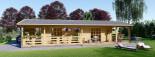 Chalet en bois TOSCANA (44+44 mm), 53 m² + 29 m² terrasse visualization 9