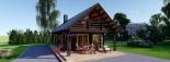 Chalet en bois AURA avec étage (66 mm), 100 m² + 35 m² terrasse visualization 10