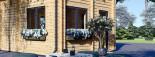 Chalet en bois habitable AVIGNON (44+44 mm, RT2012), 19.9 m² + 16 m² étage visualization 8