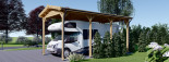 Carport en bois camping car,  3.5x7 m, 24.5 m² visualization 6