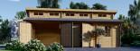 Garage en bois double TWIN (44 mm), 8x6 m, 48 m² visualization 4