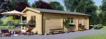 Chalet en bois AMELIA (44 mm), 32 m² + 20 m² terrasse visualization 7