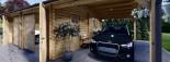 Garage en bois double (44 mm), 6x6 m + carport simple, 3x6 m, 54 m² visualization 9