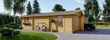 Garage en bois (44 mm), 6x9 m, 54 m² visualization 6