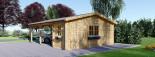 Carport en bois double avec abri, 6x7.5 m, 45 m² visualization 5