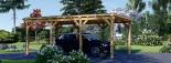 Carport en bois MODERN, 3x6 m, 18 m² visualization 2