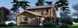 Maison en bois HOLLAND PLUS (66 mm), 120 m² + 13 m² terrasse visualization 4