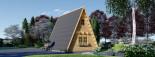 Abri de jardin TIPI, 4.5x7 m, 23 m² + 14 m² mezzanine visualization 5
