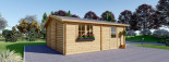 Garage en bois double (44 mm), 6x6 m, 36 m² visualization 7