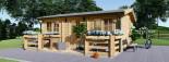 Chalet en bois ALTURA (44+44 mm, RT2012), 31m² +  8 m² terrasse visualization 3