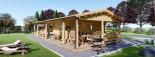 Chalet en bois habitable TOSCANA (44+44 mm, RT2012), 53 m² + 29 m² terrasse visualization 1
