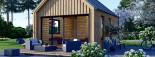Chalet en bois habitable SALLY (44 mm + bardage, RT2012), 20 m² visualization 7