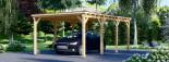 Carport en bois MODERN, 3x6 m, 18 m² visualization 6