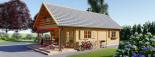 Chalet en bois AURA avec étage (66 mm), 100 m² + 35 m² terrasse visualization 5