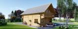 Chalet en bois habitable 2 etages LANGON (44+44 mm, RT2012), 95 m² visualization 5