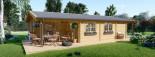 Chalet en bois LINDA (66 mm), 78 m² + 38 m² terrasse visualization 3