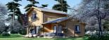 Maison en bois HOLLAND PLUS (66 mm), 120 m² + 13 m² terrasse visualization 1