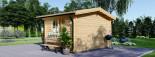 Abri de jardin DREUX (66 mm), 4x4 m, 16 m² visualization 3