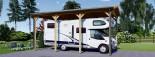 Carport en bois camping car,  3.5x7 m, 24.5 m² visualization 2