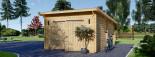 Garage en bois à toit plat MODERN (44 mm), 4x6 m, 24 m² visualization 4