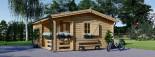 Chalet en bois NANTES (44+44 mm, RT2012), 24 m² + 3.5 m² terrasse visualization 7
