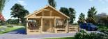 Chalet en bois avec mezzanine ANGERS (44+44 mm, RT2012), 36 m² + 19 m² terrasse visualization 2