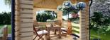 Tonnelle en bois (28 mm), 4x4 m, 16 m² visualization 6
