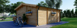 Chalet en bois ALTURA (44+44 mm, RT2012), 31m² +  8 m² terrasse visualization 5