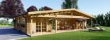 Chalet en bois habitable RIVIERA (44+44 mm, RT2012), 100 m² + 20 m² terrasse visualization 1