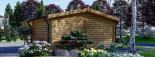 Abri de jardin WISSOUS (44+44 mm, RT2012), 5x5 m, 25 m² visualization 6