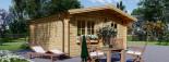 Abri de jardin DREUX (44+44 mm, RT2012), 5x5 m, 25 m² visualization 5